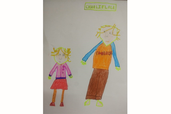 Art based on book - Charlie and Lola by Lauren Child