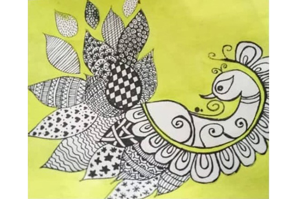 Art based on book - The Ultimate Indian colouring book for kids by Fun OK Please
