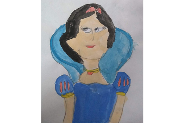 Art based on book - Snow white and the seven Dwarfs