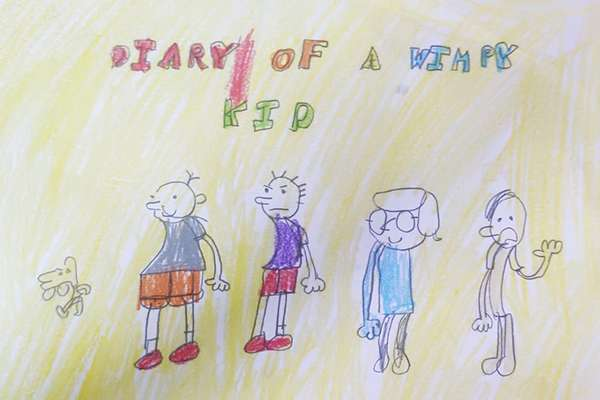 Art based on book - Diary of a Wimpy kid by Greg Heffley