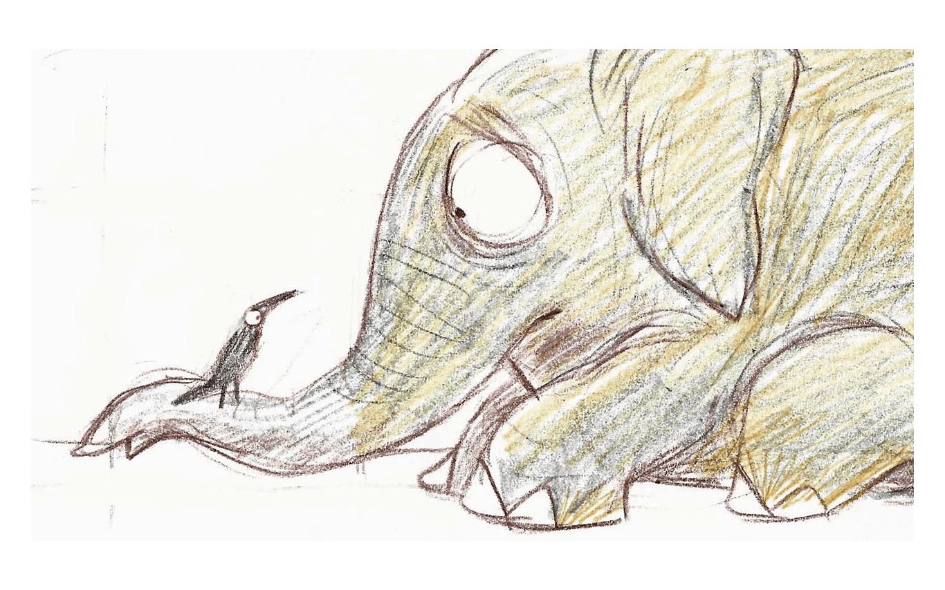 Sketch - Why the Elephant has Tiny Eyes, Tulika Books