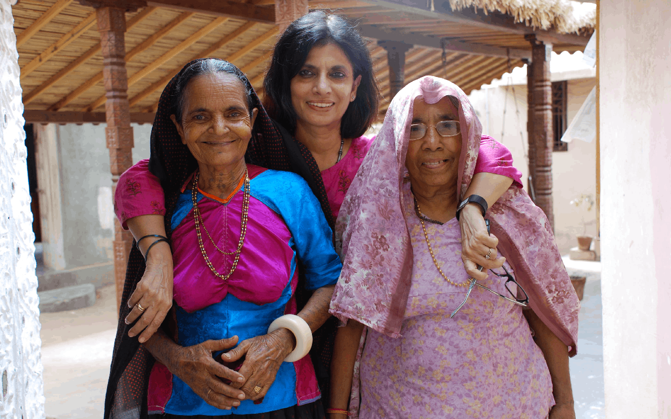 From the field – Nina with Meghiben and Raniben in Kutch