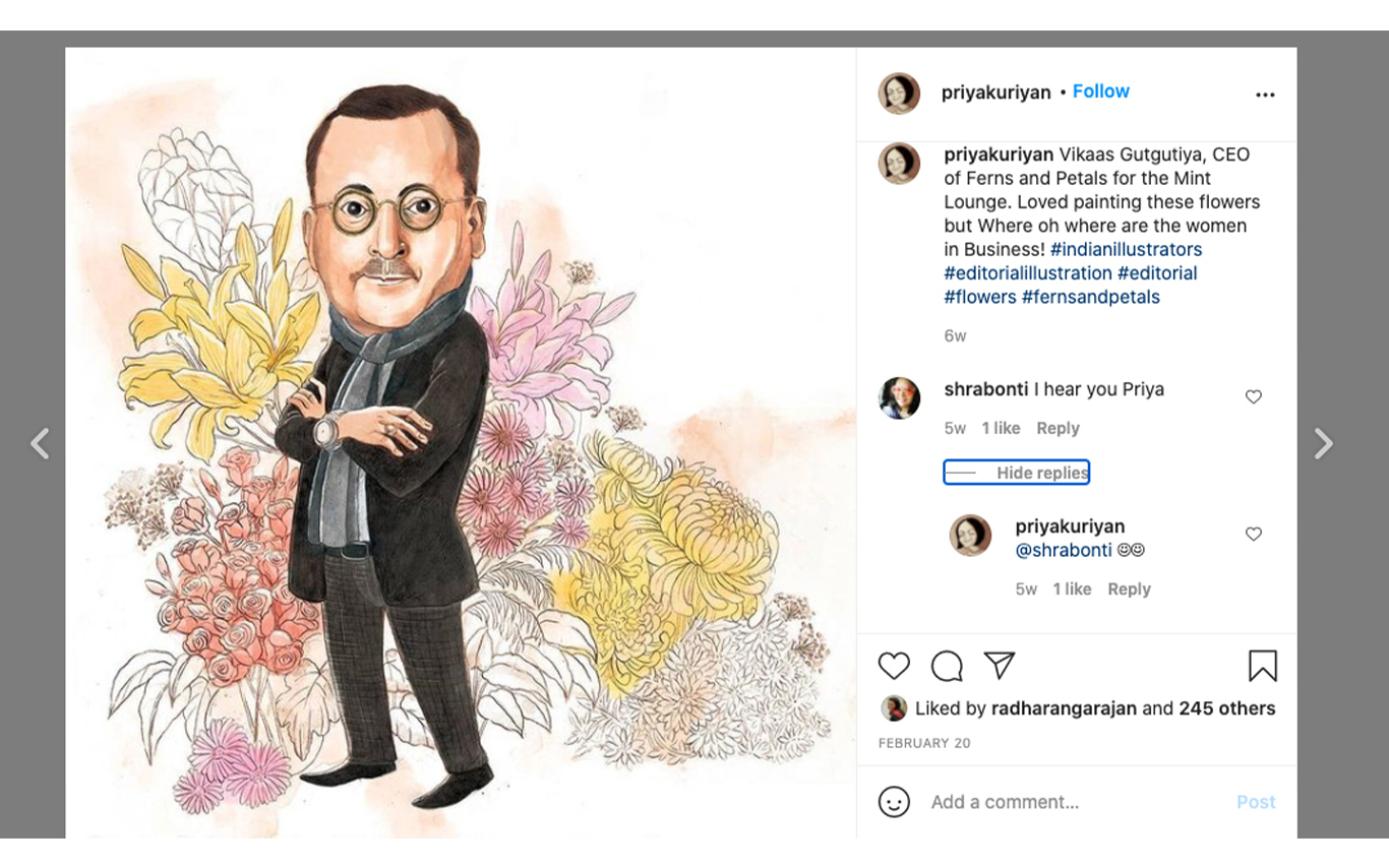Engaging online through daily art