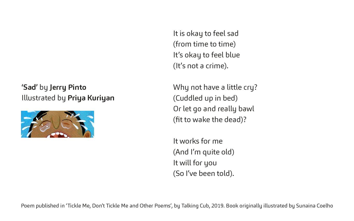 An illustrator's response. Poem in English.
