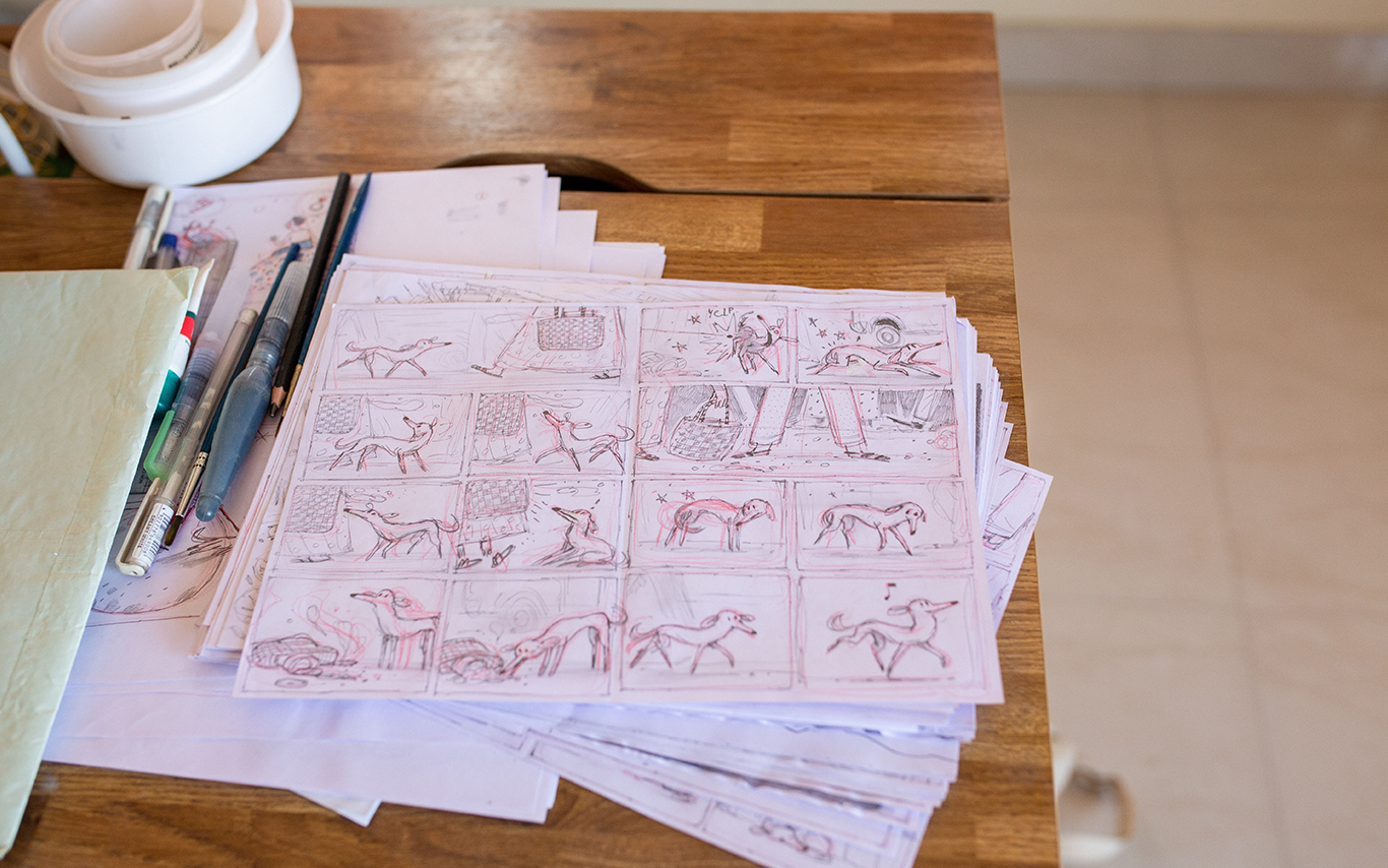 On the quiet mornings, do-it-yourself with paper and pencil.